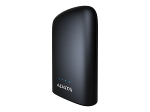 "POWER BANK ADATA 10050mAh, 2 x USB, 4 x LED pt. status baterie, P10050V 10.050 mAh, total 2.4A, lanterna LED, black ""AP10050V-DUSB-CBK""0"