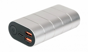 """POWER BANK VERBATIM 10000mAh, 2 x USB Quick Charge 3.0 & 1 x USB-C Power Delivery, total 3A out, silver, """"49573"""" (include timbru verde 0.5 lei)0"""