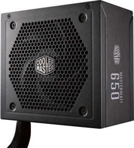 Power Supply Unit COOLER MASTER 650W (real), MasterWatt 650, silent LDB fan 120mm, 80 Plus Bronze, 4x PCI-E (6+2), 9x S-ATA0