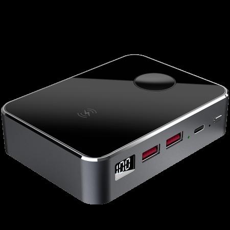 Prestigio Graphene PD PRO Watch Edition, fast charging powerbank, 20000 mAh, 2*USB3.0 QC, 1*Type-C PD, wireless charger 10W, Apple Watch wireless charger 2,5W, LED indicator, leather case, cable type  [1]