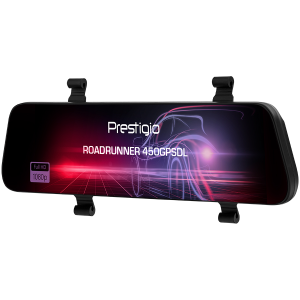 Prestigio RoadRunner 450GPSDL, 9.66\'\' IPS (1280x320) 2.5D curved touch display, Dual camera: front - FHD 1920x1080@30fps, HD 1280x720@30fps, rear - VGA 1920x1080@30fps, MSC8339D, 2 MP CMOS SC2363 fr2