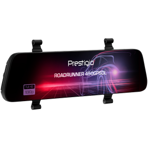 Prestigio RoadRunner 450GPSDL, 9.66\'\' IPS (1280x320) 2.5D curved touch display, Dual camera: front - FHD 1920x1080@30fps, HD 1280x720@30fps, rear - VGA 1920x1080@30fps, MSC8339D, 2 MP CMOS SC2363 fr3