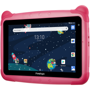 "Prestigio Smartkids, PMT3197_W_D_PK, wifi, 7"" 1024*600 IPS display, up to 1.3GHz quad core processor, android 8.1(go edition), 1GB RAM+16GB ROM, 0.3MP front+2MP rear camera,2500mAh battery1"