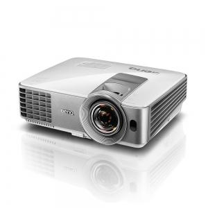 "Proiector BENQ MW632ST, DLP, WXGA 1280x 800, 3200 lumeni, 13.000:1,lampa 10.000 ore Smart Eco, D-sub, Composit, S-Video, HDMI, RCA, boxa 10W, telecomanda, card garantie, culoare alb/ argintiu ""9H.JE272"