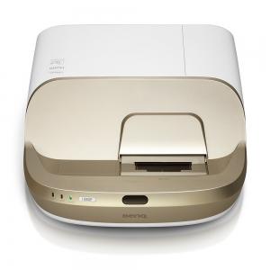 """Proiector BENQ W1600UST, Home Cinema, DLP FHD 1920x 1080, 2800 lumeni, 10.000:1, lampa 6.000 ore Smart Eco, speakers 2*10W, culoare alb+ auriu """"9H.JG477.19E""""1"""
