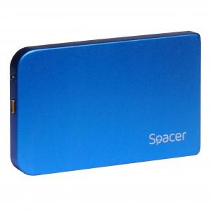 "RACK EXTERN SPACER 2.5"" HDD S-ATA to USB 3.0, Aluminiu, Albastru, ""SPR-25611A""1"