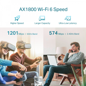"RANGE EXTENDER TP-LINK wireless  1800Mbps, 1 port Gigabit,  2 antene externe, 2.4 / 5Ghz dual band, Wi-Fi 6, ""RE605X"" (include timbru verde 1.5 lei)4"