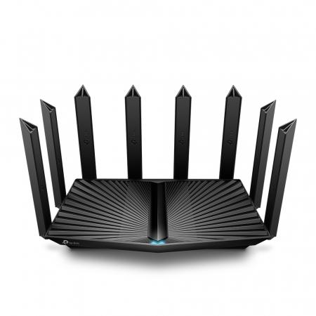 "ROUTER TP-LINK wireless 6600Mbps,1 x 2.5 Gbps WAN/LAN, 1 x 1 Gbps WAN/LAN, 3 x Gigabit LAN si 2 x USB, 2.4 Ghz/5 Ghz dual band, 8 antene externe, WI-FI 6 ""Archer AX90"" (include timbru verde 1.5 lei) [0]"