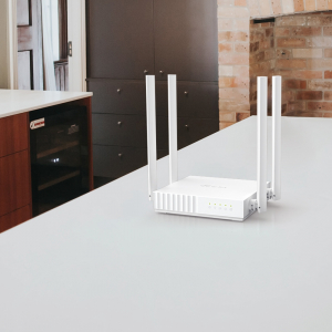 """ROUTER TP-LINK wireless  750Mbps, 4 porturi 10/100Mbps, 4 antene externe, Dual Band AC750 """"Archer C24"""" (include timbru verde 1.5 lei) [4]"""