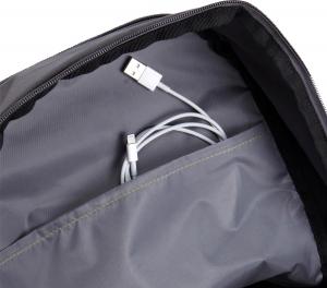 """RUCSAC CASE LOGIC notebook 15.6"""", poliester, 2 compartimente, buzunar interior tableta, buzunar frontal, 2 buzunare laterale, black """"WMBP115K""""/5323303"""