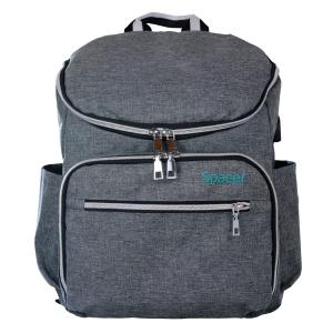 "RUCSAC SPACER Mammy bag , nylon,  1 compartiment, 2 buzunare frontale, 35x30x16cm, silver, ""SPB-Pumpkin"" [0]"