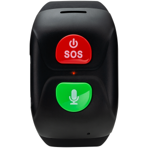 Senior Tracker, GPS function, SOS button, IP67 waterproof, single SIM, 16KB RAM 512KB ROM, GSM(850/900/1800/1900MHz), 400mAh, compatibility with iOS and android, Black, host: 66*37*16mm, strap: 20wide0