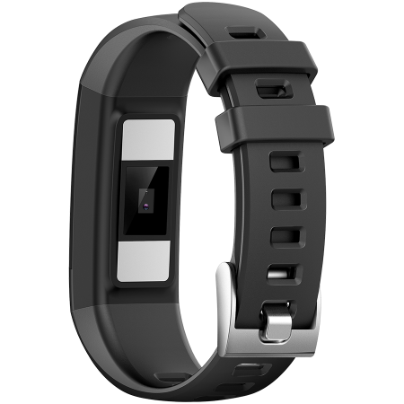 Smart Band, colorful 0.96inch TFT, ECG+PPG function,  IP67 waterproof, multi-sport mode, compatibility with iOS and android, battery 105mAh, Black, host: 55*19.5*12mm, strap: 18wide*240mm, 24g [2]