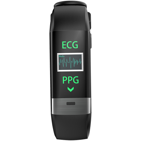 Smart Band, colorful 0.96inch TFT, ECG+PPG function,  IP67 waterproof, multi-sport mode, compatibility with iOS and android, battery 105mAh, Black, host: 55*19.5*12mm, strap: 18wide*240mm, 24g [0]