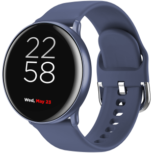 Smart watch, 1.22inches IPS full touch screen, aluminium+plastic body,IP68 waterproof, multi-sport mode with swimming mode, compatibility with iOS and android,Blue with extra blue leather belt, Host: 0
