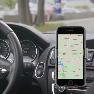 "SUPORT auto GEMBIRD pt. SmartPhone, 2 in 1, fixare in grilaj bord, incarcare wireless Qi 10W, sistem auto-lock, rotire 360 grade, black, ""EG-TA-CHAV-QI10-01""3"