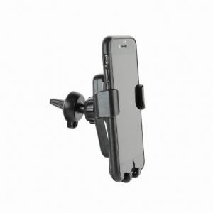 "SUPORT auto GEMBIRD pt. SmartPhone, 2 in 1, fixare in grilaj bord, incarcare wireless Qi 10W, sistem auto-lock, rotire 360 grade, black, ""EG-TA-CHAV-QI10-01""1"