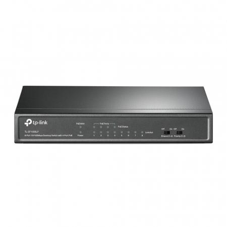 "SWITCH PoE TP-LINK  8 porturi 10/100Mbps (4 PoE), IEEE 802.3af, carcasa metalica ""TL-SF1008LP"" (include timbru verde 1.5 lei)0"