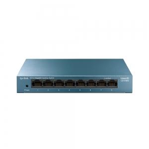 """SWITCH TP-LINK  8 porturi Gigabit LiteWave carcasa metalica, """"LS108"""" (include timbru verde 1 leu)0"""