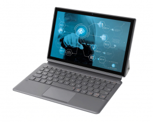 "Tableta Blackview TAB 8 cu Tastatura, 10.1"" IPS, FullHD, Octa-Core, 4GB RAM, 64GB, 4G, Dual Sim, 6580mAh, Camera 13MP, Face ID, Gri"