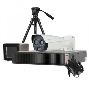 Kit pentru masurarea temperaturii umane Dahua: camera termala, scaner de precizie, smart NVR, licenta ProBase1
