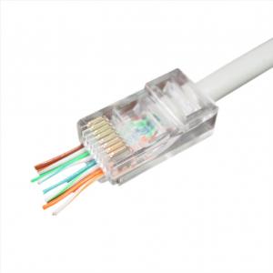 "Universal pass-through modular UTP plug 8P8C, 10 pcs per bag ""LC-PTU-01/10""1"