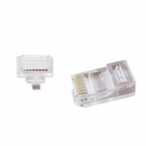 "Universal pass-through modular UTP plug 8P8C, 10 pcs per bag ""LC-PTU-01/10""0"