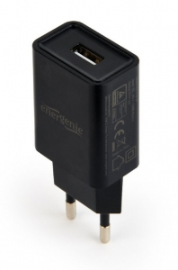 "Universal USB charger, 2.1 A, black ""EG-UC2A-03""2"