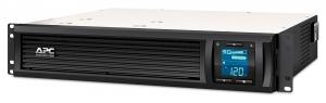 UPS APC Smart-UPS C line-interactive / sinusoidala 1000VA / 600W 4conectori C13 rackabil 2U, baterie APCRBC124,cu SmartConect optional extinderegarantie cu 1/3 ani (WBEXTWAR1YR-SP-02/WBEXTWAR3YR-SP-020