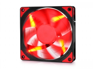 "VENTILATOR DEEPCOOL PC 120x120x25 mm, red LED, PWM, Fluid Dynamic Bearing, MTBF 100.000 ore, pale dual-layer detasabile, ""TF120 RED""2"