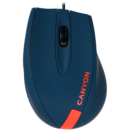 Wired Optical Mouse with 3 keys, DPI 1000 With 1.5M USB cable,Blue-Red,size 68*110*38mm,weight:0.072kg [0]