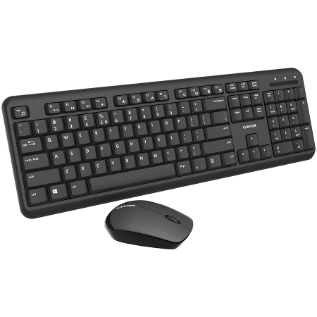 Wireless combo set,Wireless keyboard with Silent switches,104 keys, UK&US 2 in 1 layout,optical 3D Wireless mice 100DPI black [1]