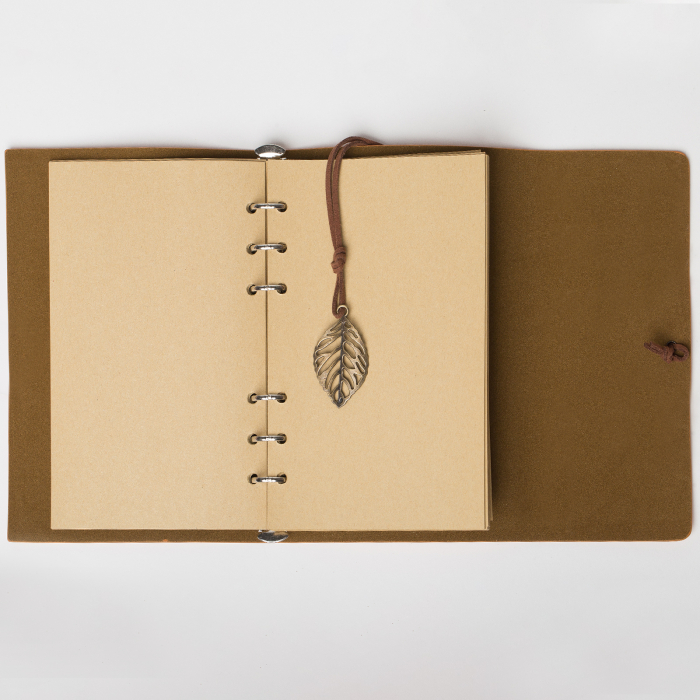 Agenda retro mustar, invelis din piele ecologica, 11 x 15 cm [3]