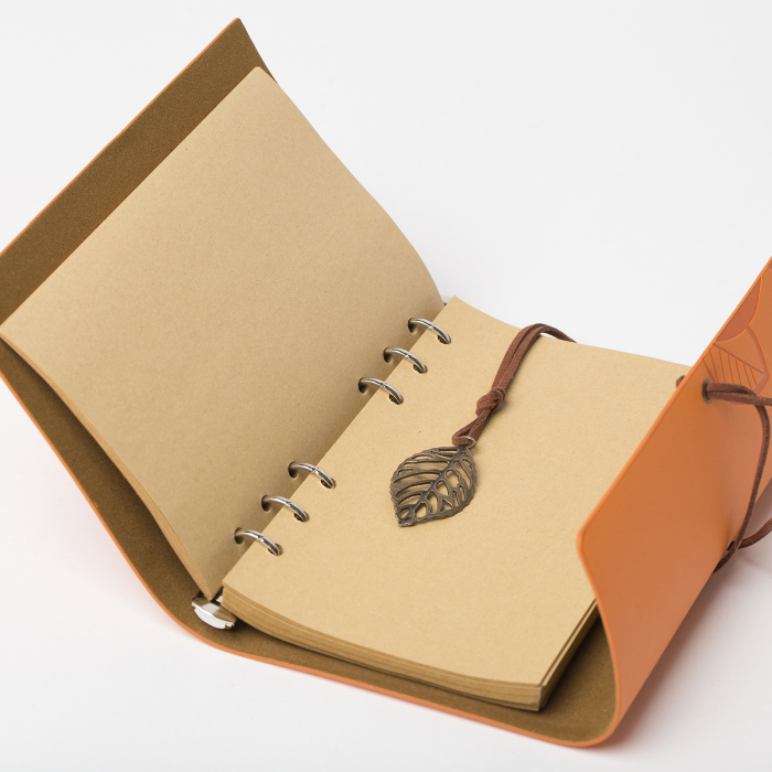 Agenda retro mustar, invelis din piele ecologica, 11 x 15 cm [1]