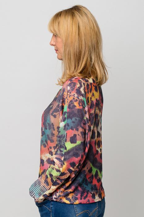 Bluza cu maneca fluture si imprimeu animal print 1