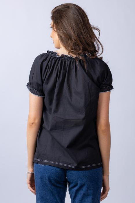 Bluza gen ie neagra din tesatura fina de bumbac [4]