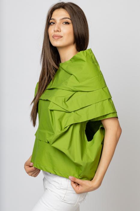 Bluza verde asimetrica, extravaganta [2]