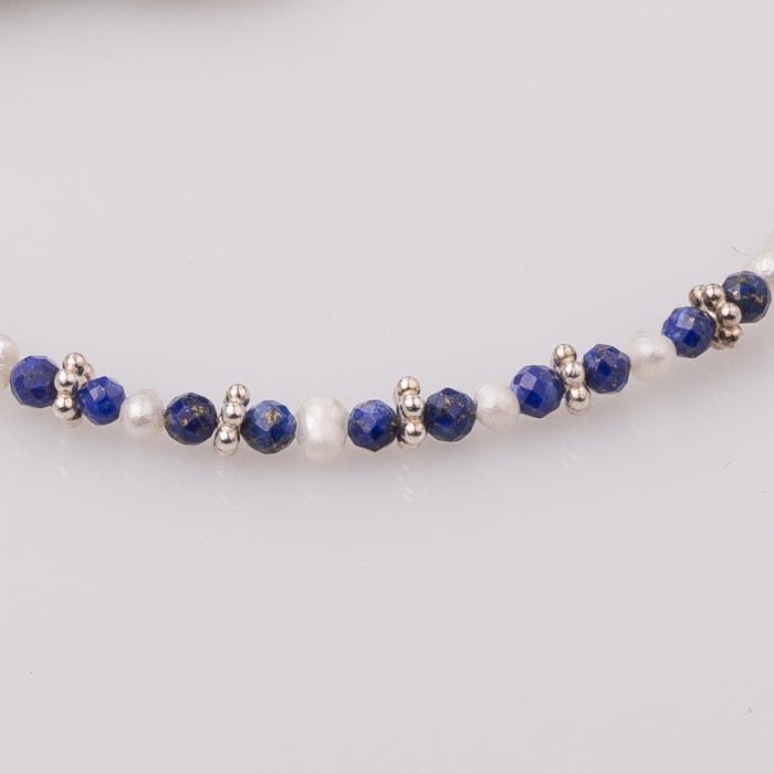 Bratara subtire din perle cu lapis lazuli 1