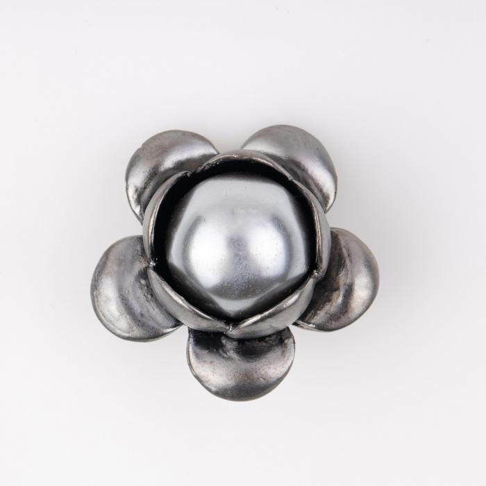 Brosa metalica floare argintie [0]