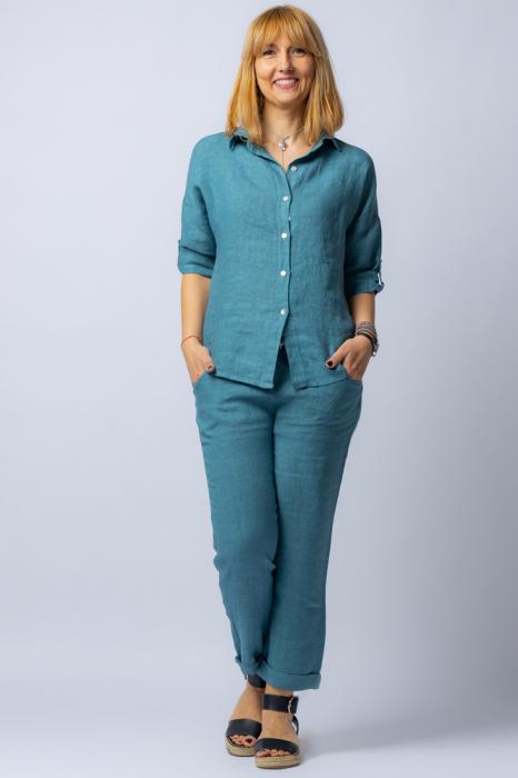 Camasa albastru jeans lejera, din in [1]
