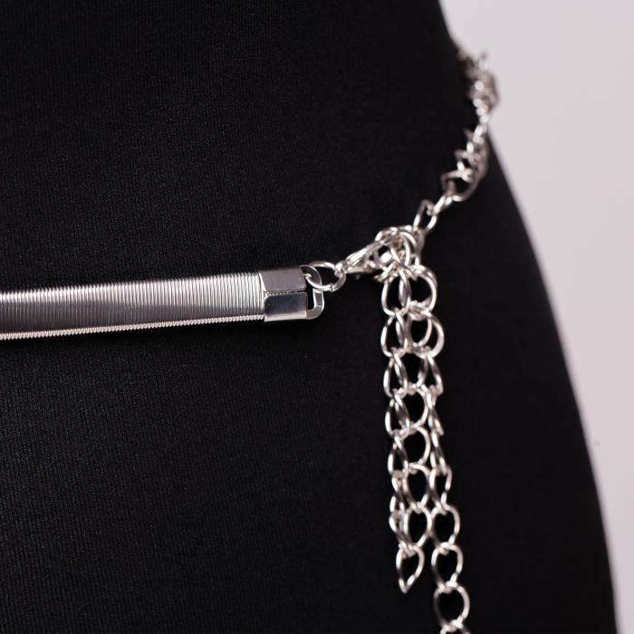 Curea metalica argintie 1