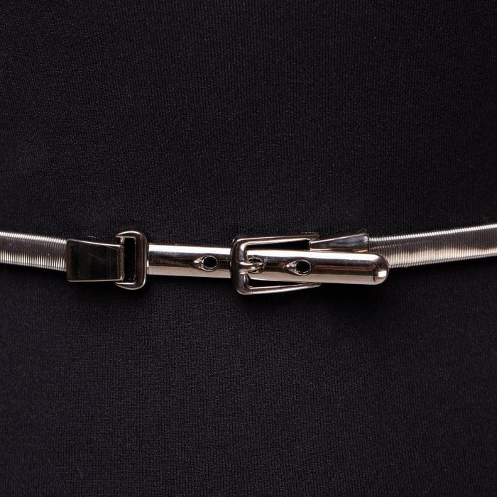 Curea metalica catarama 3 gauri argintie 1
