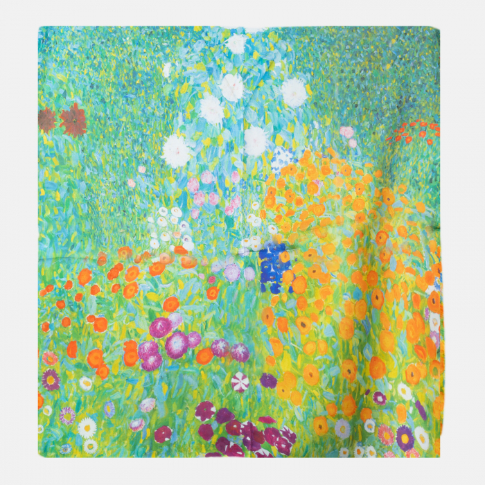 "Esarfa patrata cu o singura fata imprimata cu reproducere dupa "" Camp cu maci"" de Claude Monet [0]"