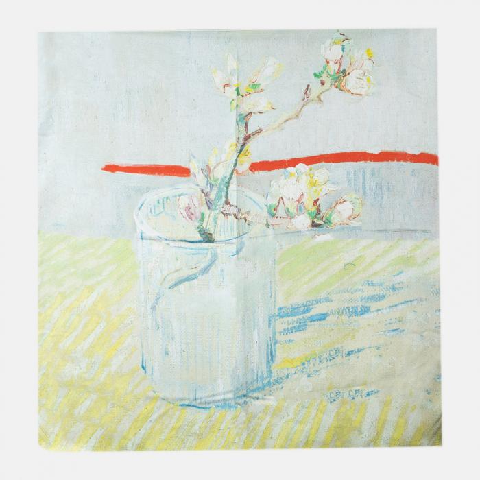 Esarfa patrata cu o singura fata imprimata cu reproducere dupa tablou de Van Gogh [0]