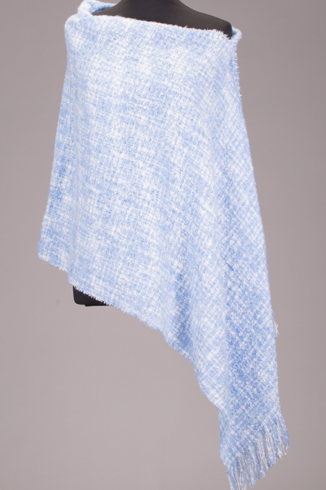 Fular in carouri, combinatii de albastru si alb [0]