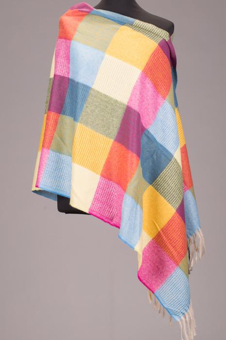 Fular tip sal cu patrate multicolore [0]