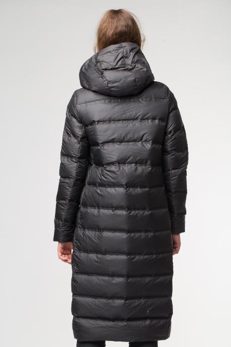 Geaca  cu umplutura puf gasca, neagra lunga MY DRESS [2]