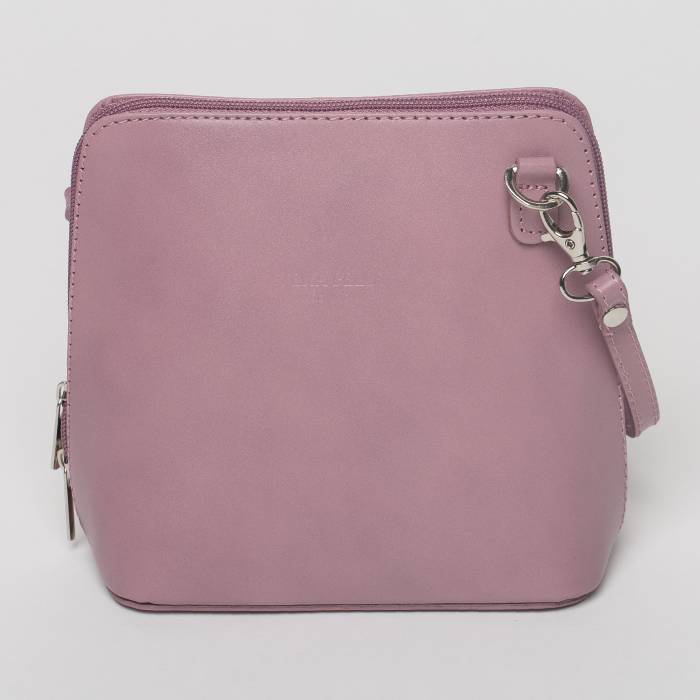 Geanta crossbody, roz prafuit, din piele naturala [0]