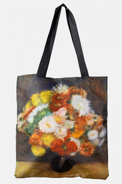 Geanta shopper din material textil, cu imprimeu floral multicolor [0]
