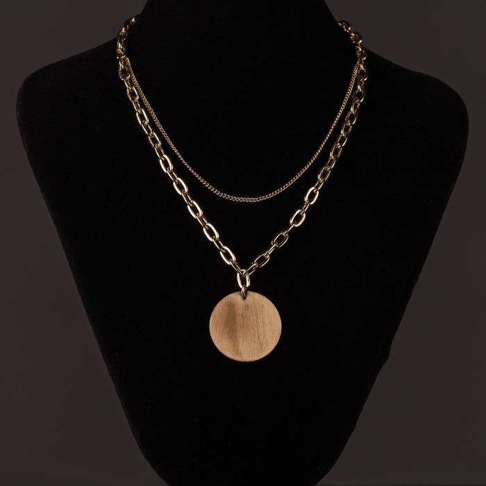 Lanturi cu medalion rotund auriu [1]